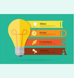 creative light bulb idea banner design vector image