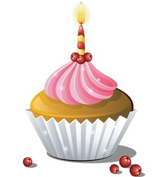 cupcake birthday vector image