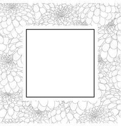 dahlia outline banner card vector image