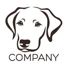 Dog labrador logo vector