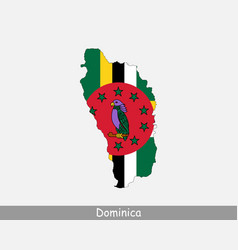 dominica map flag vector image