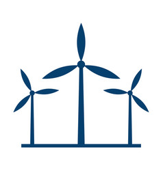 eco energy three wind turbines vector image