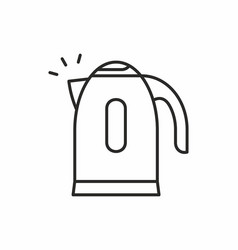 electric kettle icon vector image