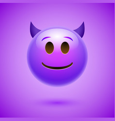 Emoji crtoon devil bad face angry or happy vector