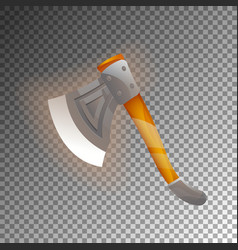 Fantasy medieval axe isolated game element vector