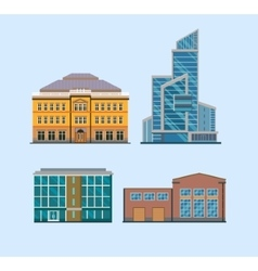 Flat city buildings vector