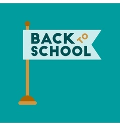 flat icon on background Back to school flag vector image