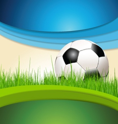 Green and blue soccer background vector