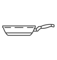 Griddle pan icon outline style vector