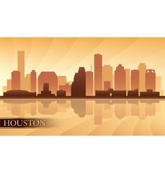 Houston city skyline silhouette background vector image