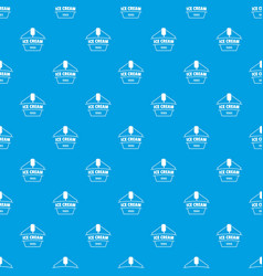 ice cream pattern seamless blue vector image