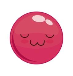 Kawaii face icon Cartoon face design vector