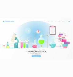 Laboratory research vector