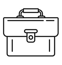 leather bag icon outline style vector image