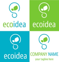 Logo ecologic idea icon vector image