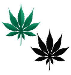 marijuana pot leaf vector image