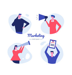 Marketing - flat design style characters vector