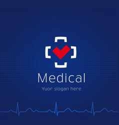 Medical centr logo vector
