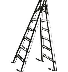 metall stairs metall staircase on a white vector image