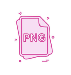 Png file type icon design vector