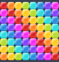 rainbow backdrop with realistic glossy squares vector image