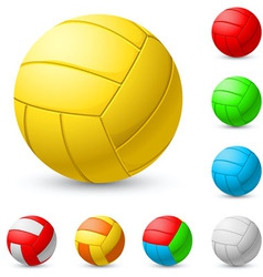 realistic volleyball vector image