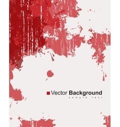 Red ink splashes vector