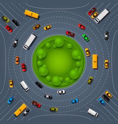 road way location car racing info art cover vector image
