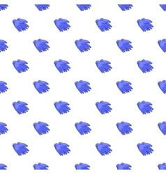 Rubber gloves pattern cartoon style vector image