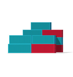 Shipping containers stack vector