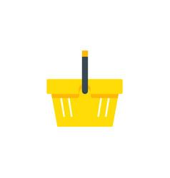 shopping basket shop supermarket flat vector image