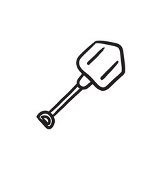 Shovel sketch icon vector