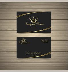 simple gold business card vector image