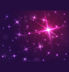 stars abstract bokeh background vector image