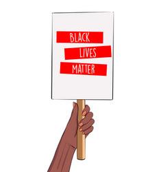 stop racism vertical banner black lives matter vector image