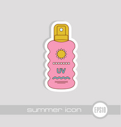 Sun cream in spray icon summer vacation vector