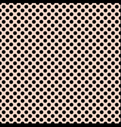 Tile pattern with black polka dots on pastel pink vector