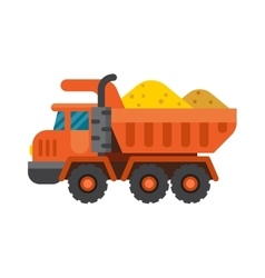 Tipper truck for construction industry vector
