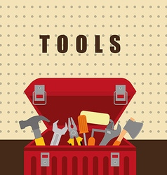 Tools on box vector image