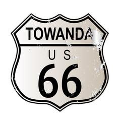 Towanda route 66 vector