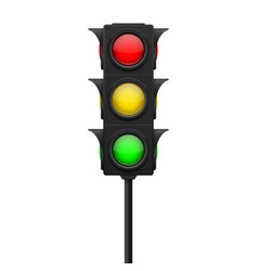 traffic lights with all lamps on vector image