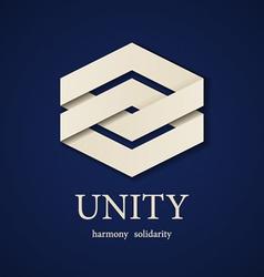 unity paper icon design template vector image