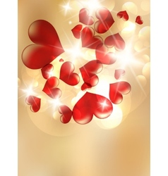 Valentines Red Abstract vector image