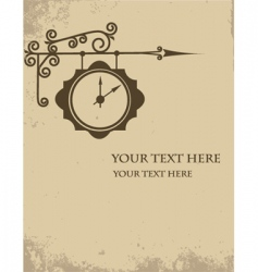 vintage watch making sign wall vector image