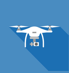 white drone vector image