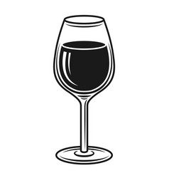 Wine glass black isolated object vector