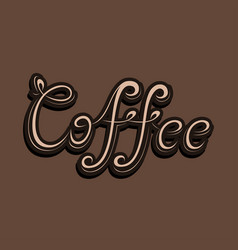 Word of coffee vector