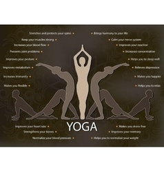 yoga infographics benefits yoga practice vector image
