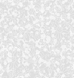abstract seamless texture with a floral circuit vector image vector image