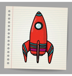 Cartoon space rocket vector image